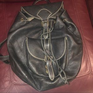 Vintage 90's Roots Leather Backpack
